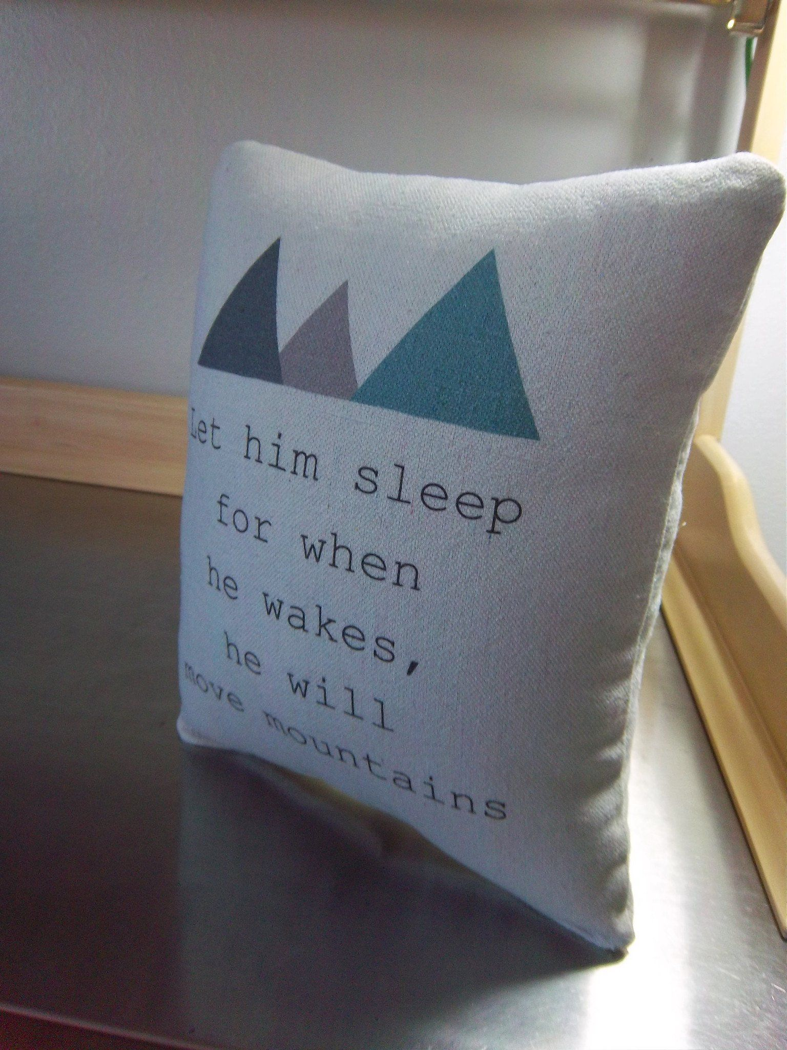 Mountain pillow blue throw pillows woodland cushion with quotes ...
