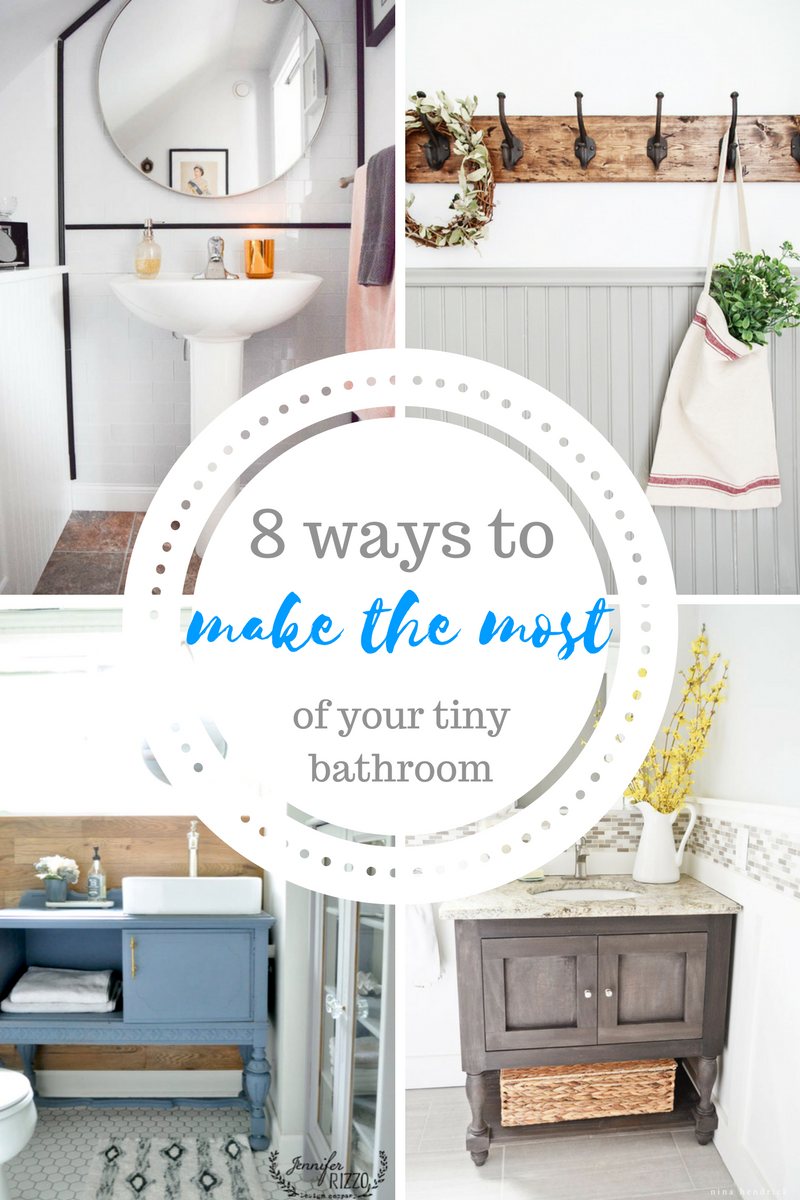 8 Ways to Make the Most of Your Tiny Bathroom | Cheap Home Decor ...