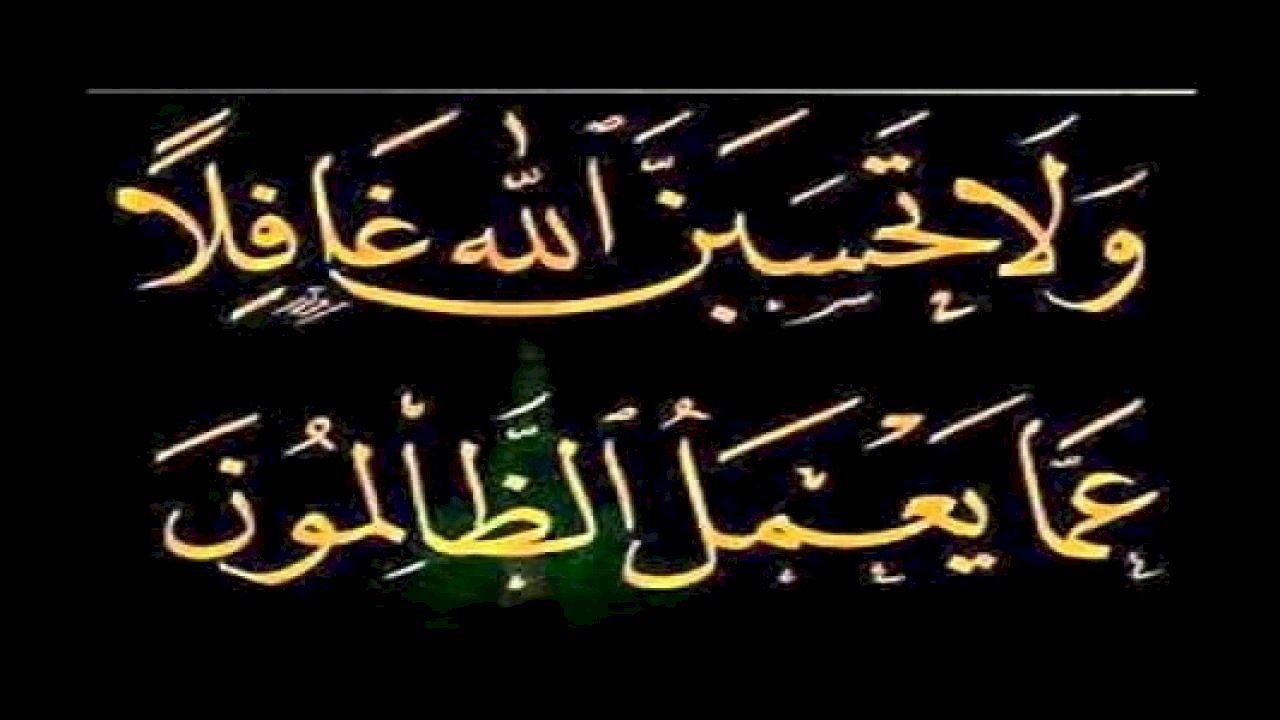 ولا تحسبن الله غافلا Arabic Calligraphy Calligraphy