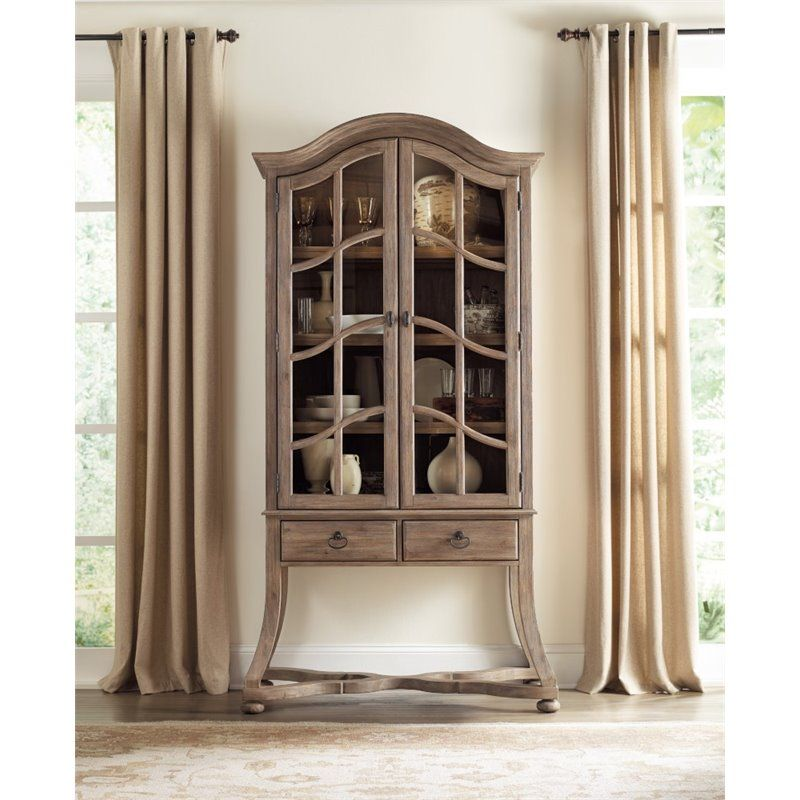 Hooker Furniture Corsica Curio Cabinet In Light Wood