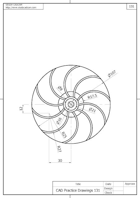 Cad Practice Drawings 131 (图纸练习 131 , 図面練習 131 , CAD