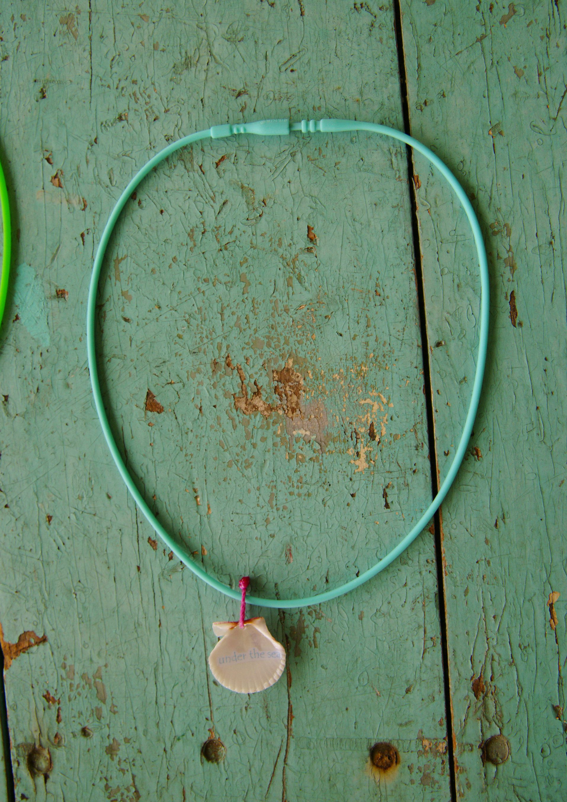 Little Mermaid with Fish Donsina Shell Necklace ~ Little girl beach island ocean jewelry beach waterproof surf style