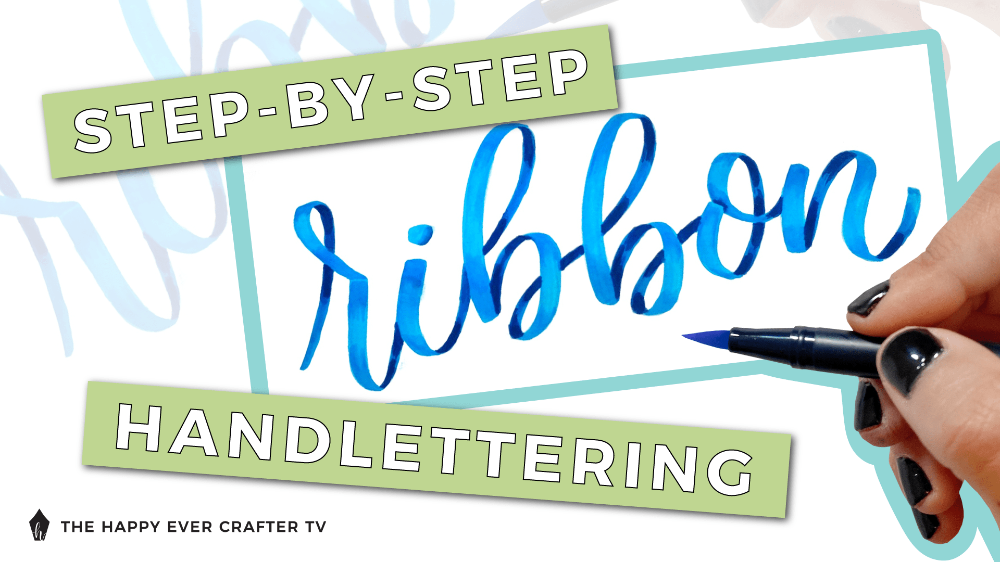 StepbyStep Ribbon Handlettering (with a free worksheet