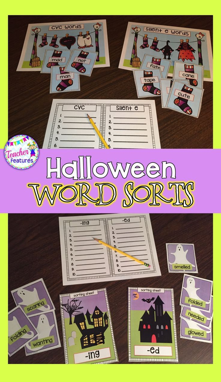 Looking for interactive Halloween word sorts and games for grades ...