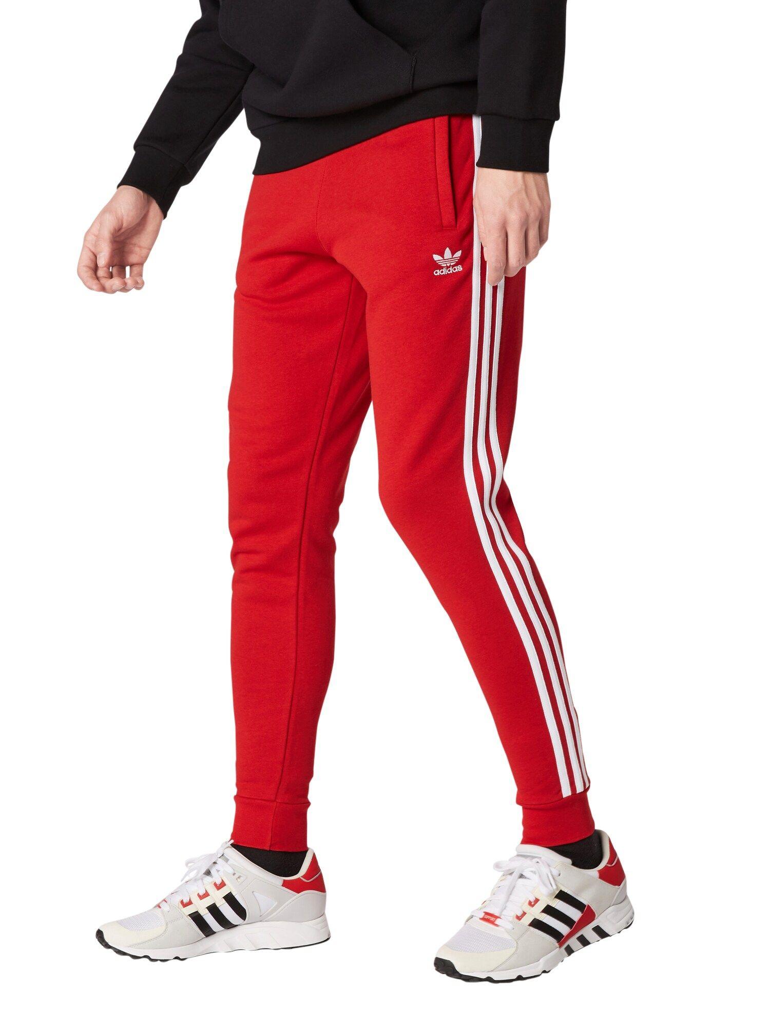 ADIDAS ORIGINALS Hose '3 Stripes' Herren, Rot Weiß, Größe
