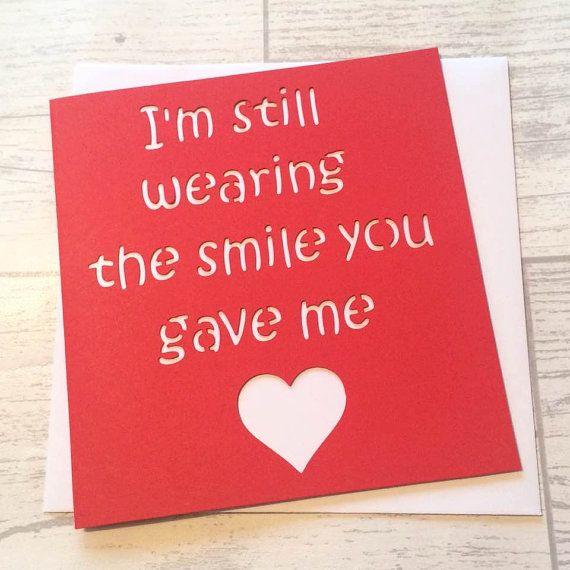 Anniversary Card Valentines Card Card For Boyfriend Valentines