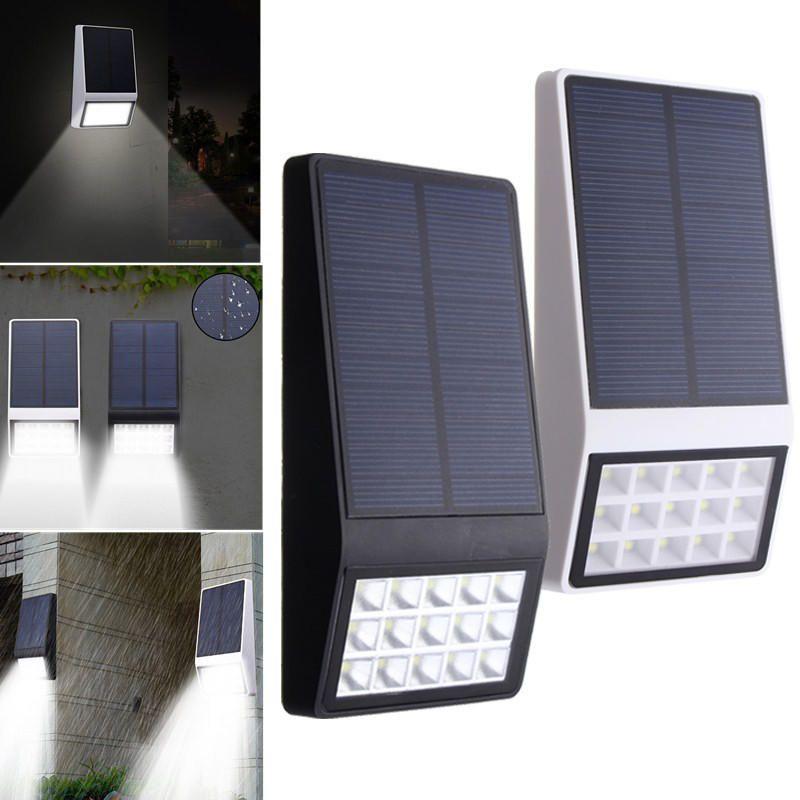 13 49 3 7v 1w Solar Powered 15 Led Wall Lamp Night Light Waterproof For Garden Patio Path 3 7v Solar Powered Wall Sensor De Luz Apliques De Pared Muros