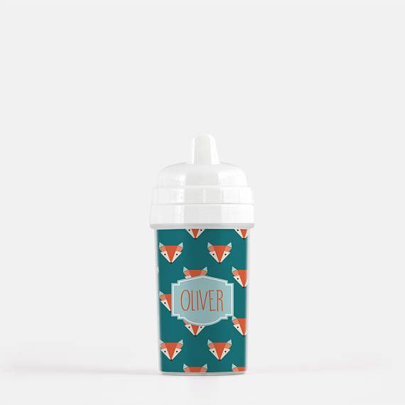 b85e345ffe9 Personalized Sippy Cup with Foxes - Custom Sippy Cup - Fox Cup ...