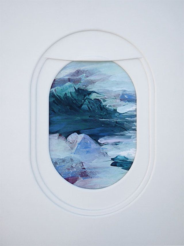 Views From A Plane S Window Paintings Window Painting Airplane