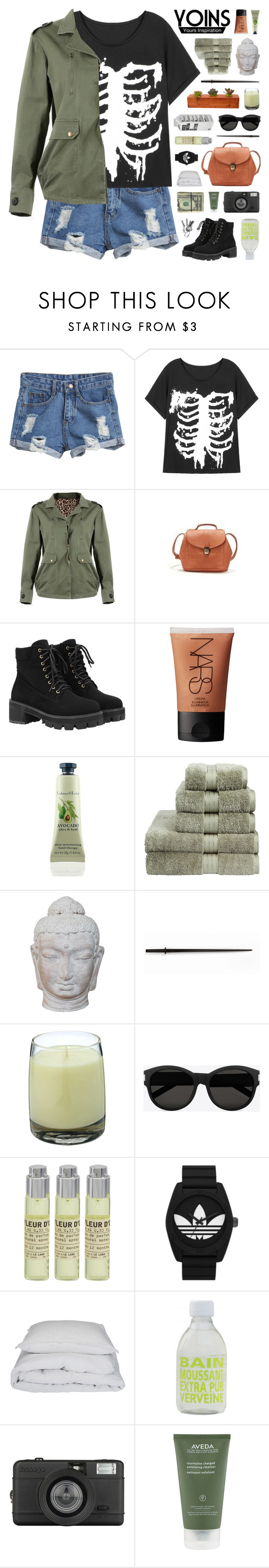"""""""Yoins #3"""" by hhuricane ❤ liked on Polyvore featuring WithChic, NARS Cosmetics, Christy, Puji, Kikkerland, Le Labo, Yves Saint Laurent, adidas Originals, By Nord and La Compagnie de Provence"""