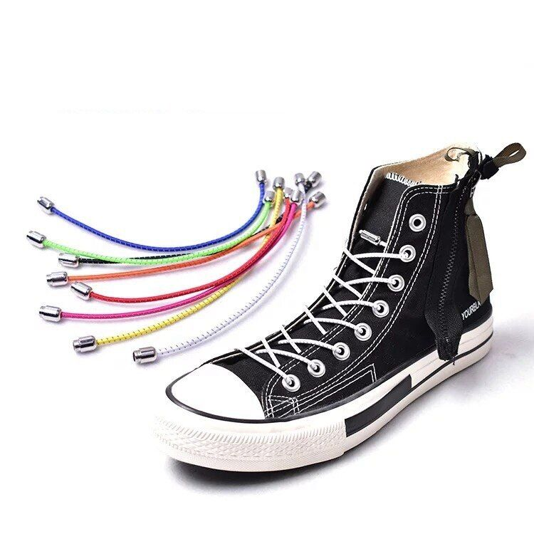 3-Pairs Easy No Tie Shoelaces Elastic Silicone Flat Lazy Shoe Lace Strings Adult
