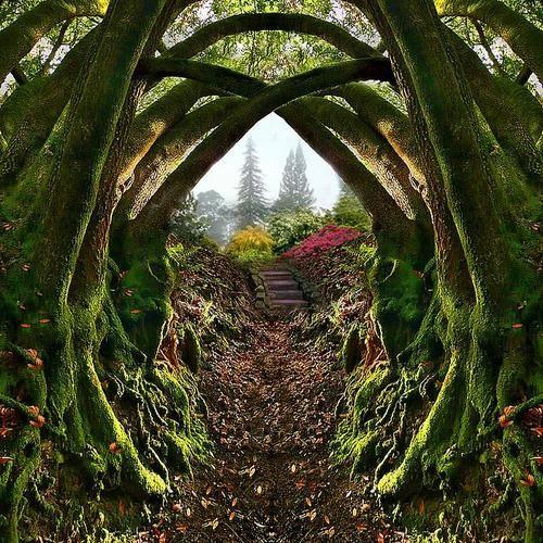 Entrance to the Secret Garden in Portland, Oregon.