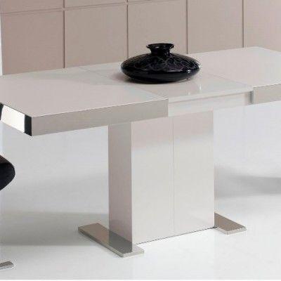 mesa-comedor-intempo-cristal Mesas de comedor modernas Pinterest
