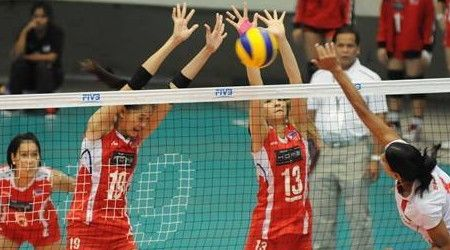 Power Pinays Open Asian Club Volleyball Championship Campaign With Straight Set Victory Pinoy Headline Dot Com Victorious Volleyball Pinoy