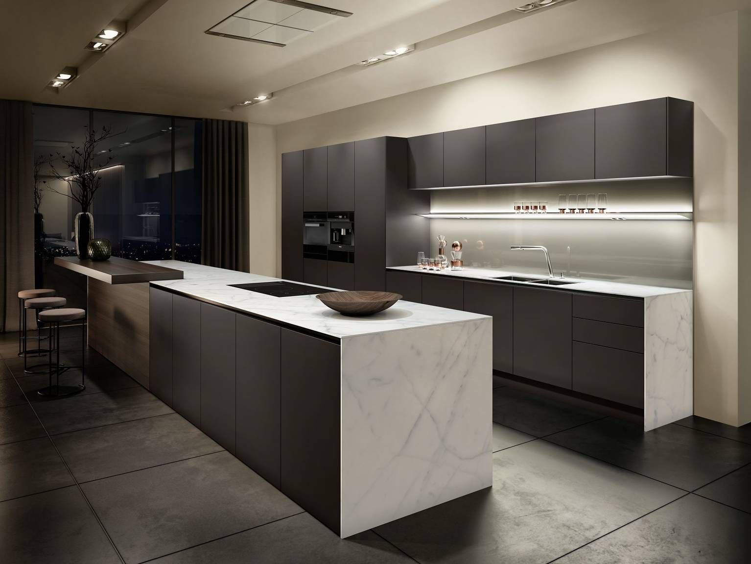 Siematic pure s2 se kitchen in a brown tone from the siematic