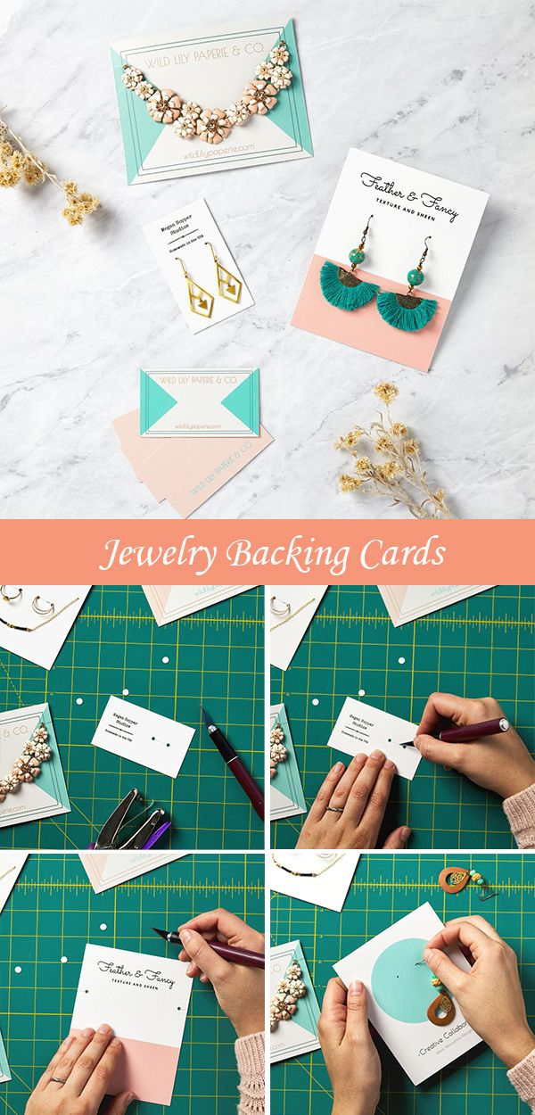 Custom Jewelry Card Design Gallery In 2020 Jewelry Card Jewelry Display Cards Earring Cards