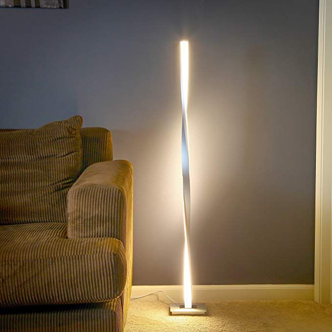 Brightech Helix Led Floor Lamp For Living Rooms Get Compliments Modern Standing Pole Light For Family Roo In 2020 Standing Lamp Modern Floor Lamps Lamps Living Room