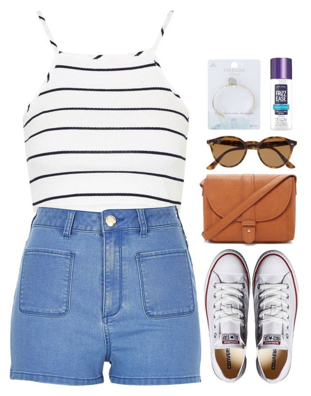 """""""Untitled #186"""" by kreay-1 ❤ liked on Polyvore featuring Topshop, River Island, Converse, Forever 21, Ray-Ban and John Frieda"""