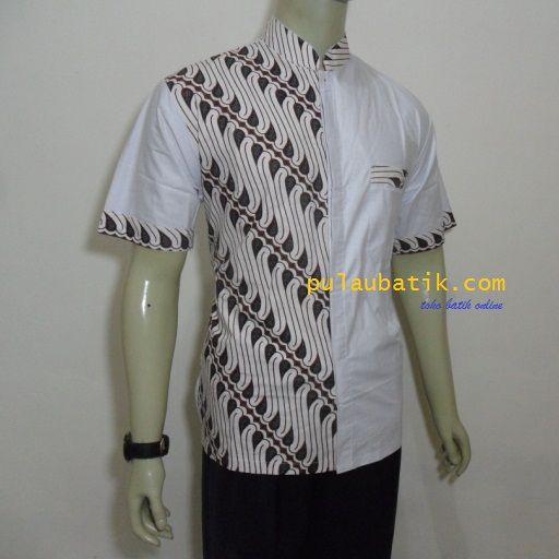 Batik Motif Bunga Pria: Motif Batik Kombinasi Model Modern Murah