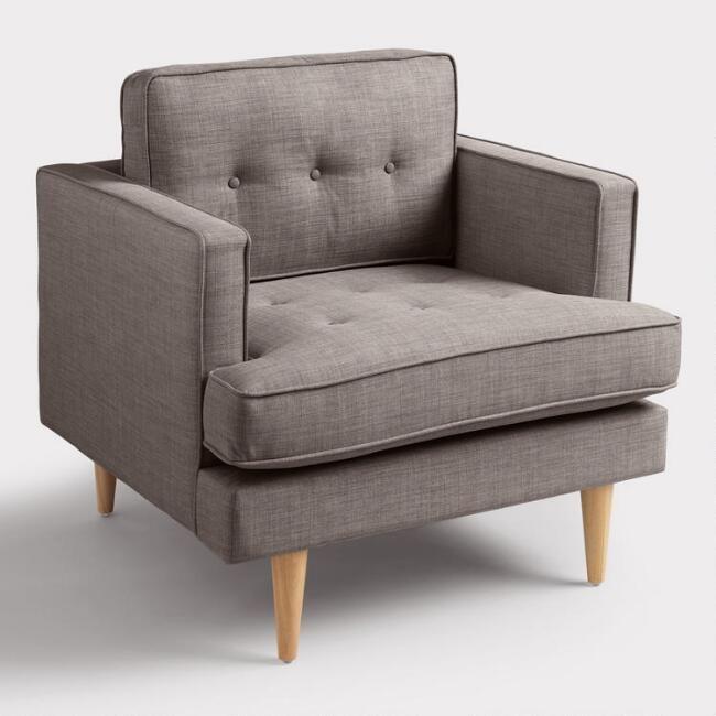 Dolphin Gray Woven Apel Armchair V1 Modern Accent Chair