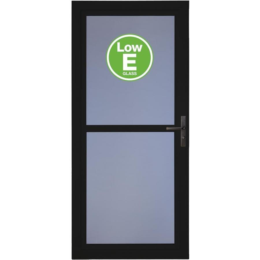 Larson Tradewinds Low E Black Full View Aluminum Storm Door