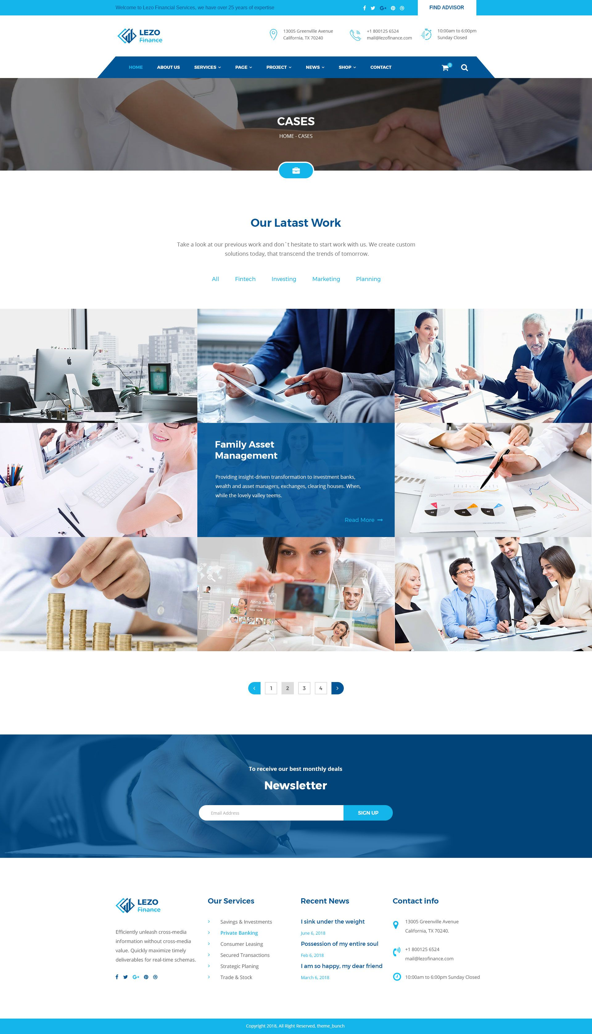 Lezo Business Finance Consulting Psd Template Business