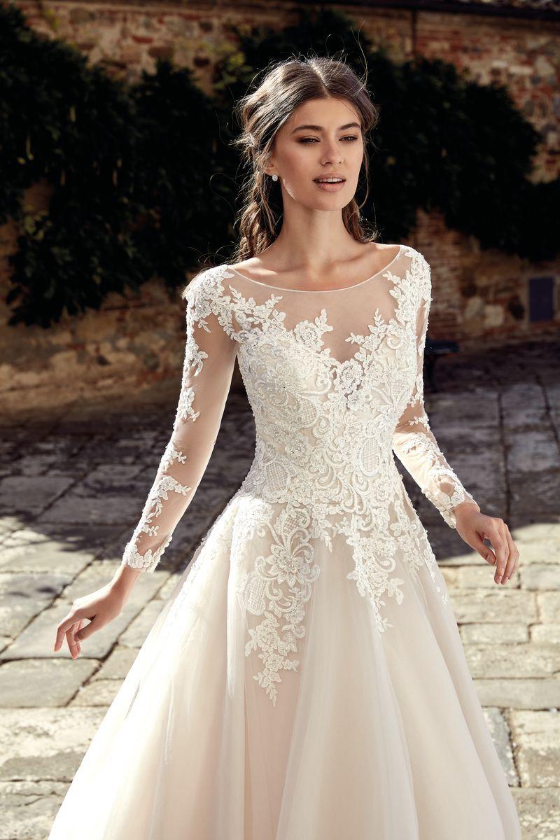 Eddy K 20  Kleid hochzeit, Brautkleid lange ärmel