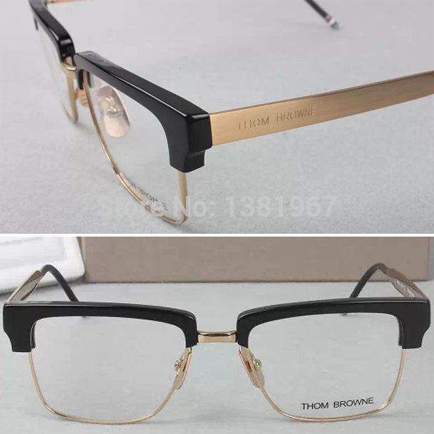 New 2015 THOM BROWNE Tb901 Silhouette Eyeglasses Frames Men Eye Glasses  Frames For Women Retro Fashion Computer Optical Frame aac9f373ef