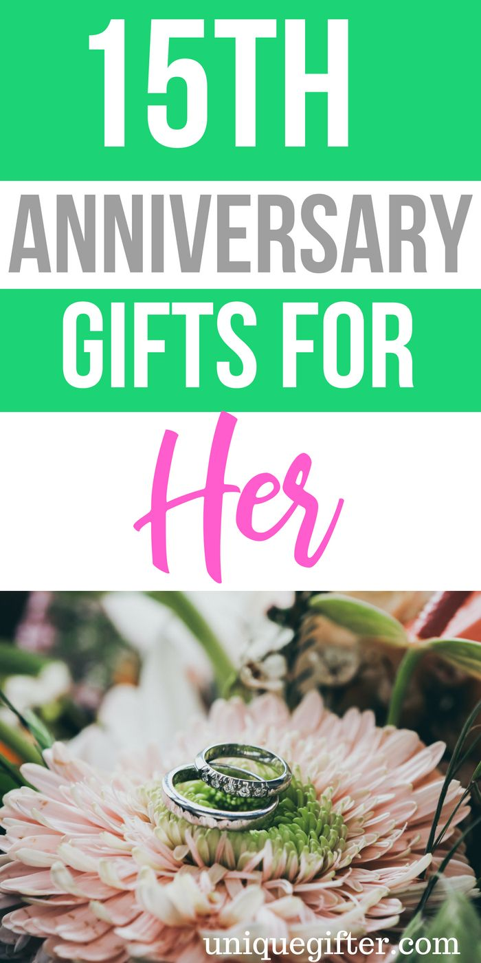20 15th Anniversary Gifts for Her (With images) 15th