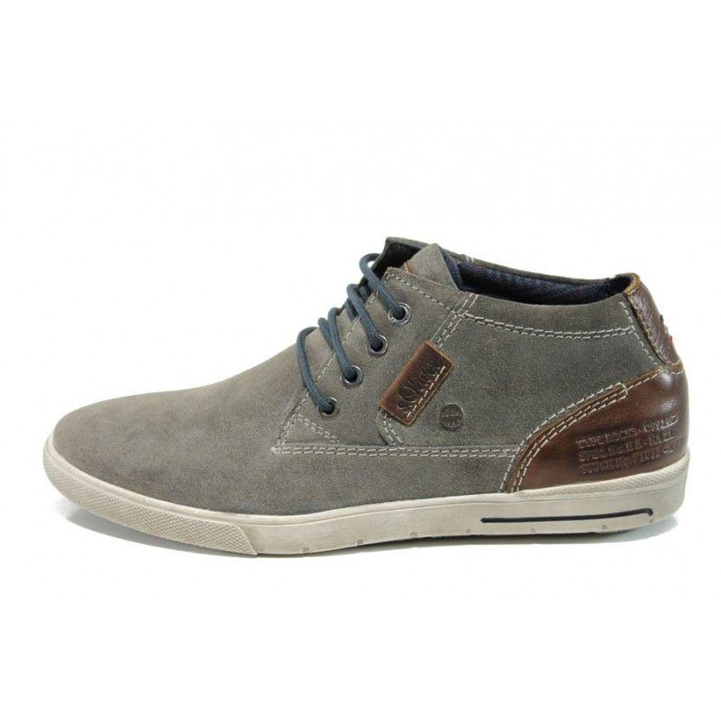 Sivi Anatomichni Mzhki Obuvki Estestven Nabuk Vsekidnevni Obuvki Za Esenta I Zimata N 100011169 Ecco Shoes Canvas Shoes Leather Sneakers