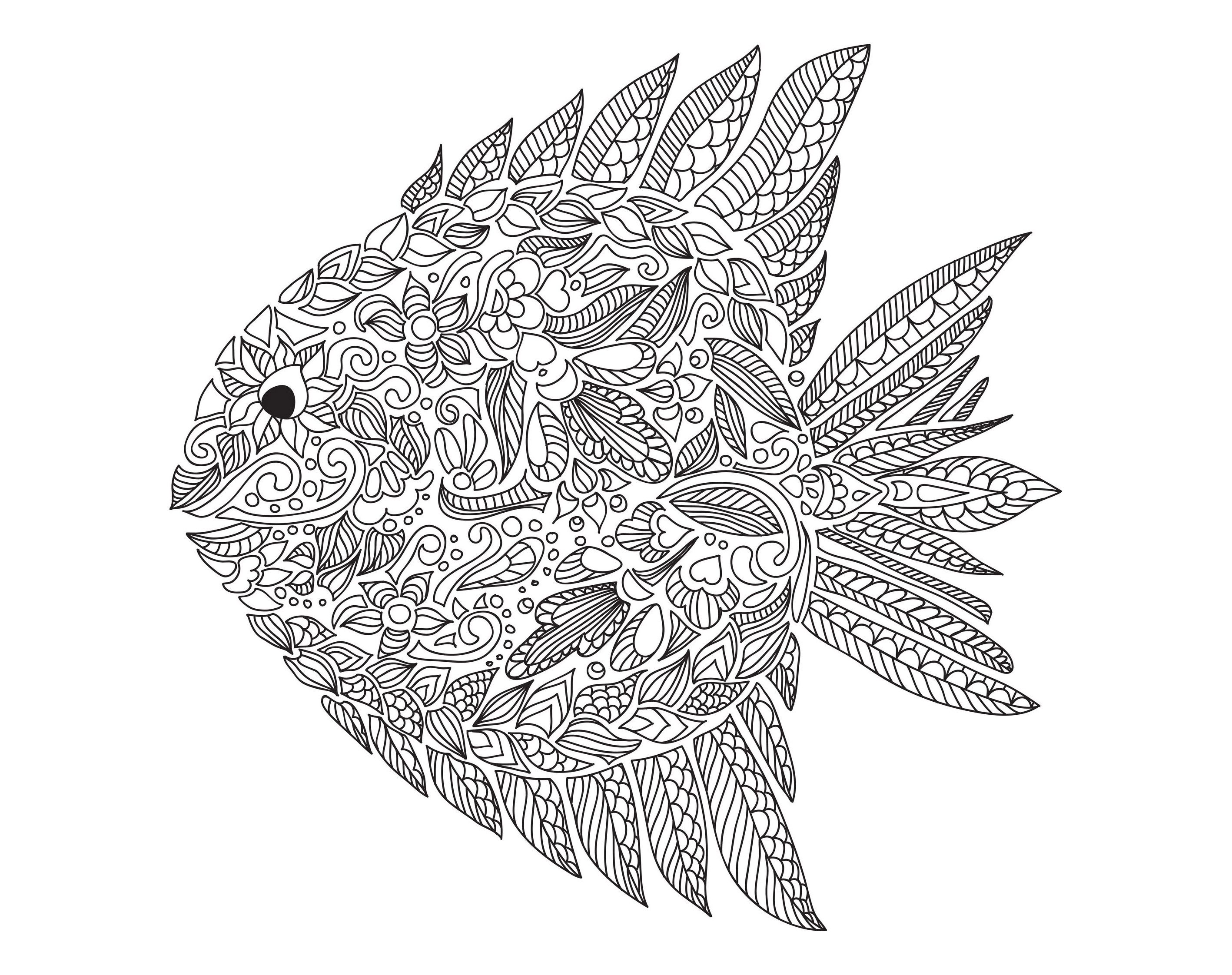 Free coloring pages fish - Free Coloring Page Coloring Zentangle Fish By Artnataliia Complex Zentangle Fish