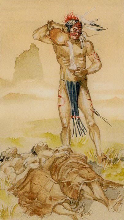 Xiv Temperance Balance Archangel Zadkiel: Native American Tarot By Laura Tuan