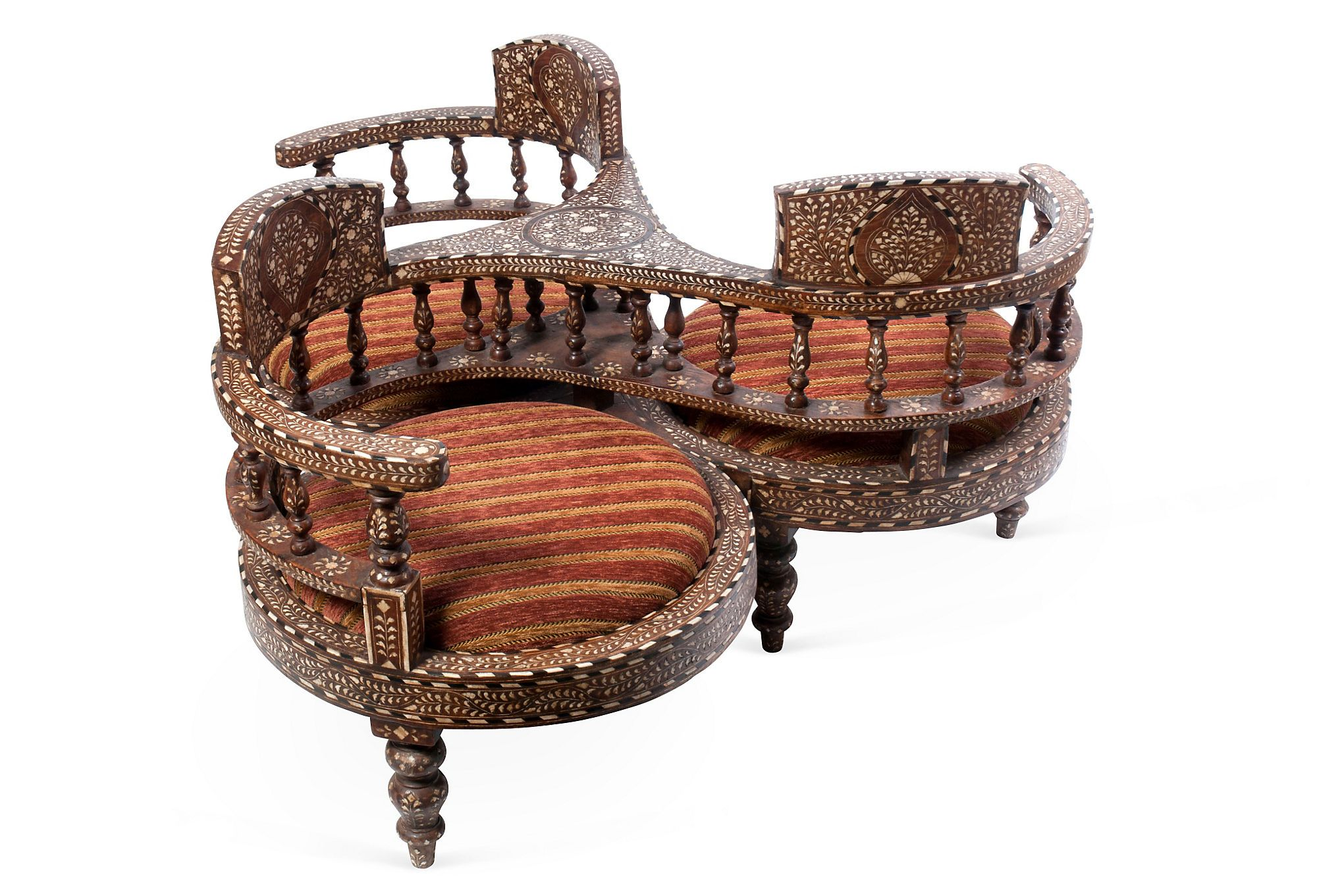 Tete A Tete W Inlay C 1850 Victorian Chair Antique Chairs Chair