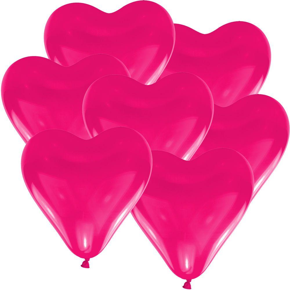 10 x Herzluftballons Ø 10 cm PINK rosa ballons hochzeit deko ...