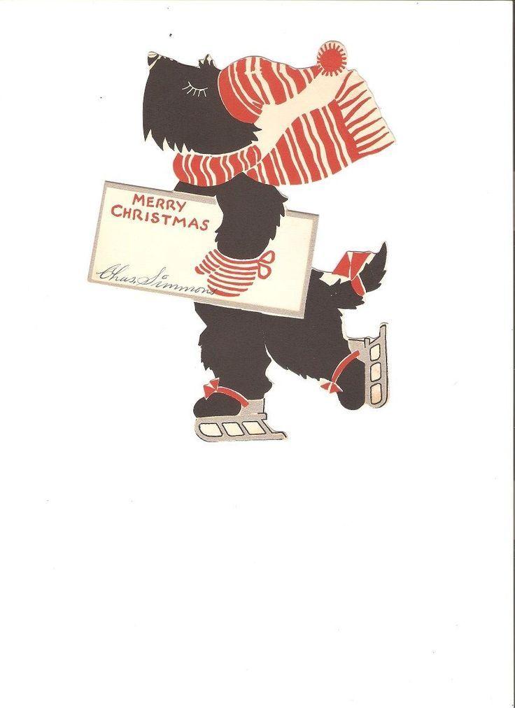 vintage terrier christmas cards | 766 best Rocky Creek Scotties ...