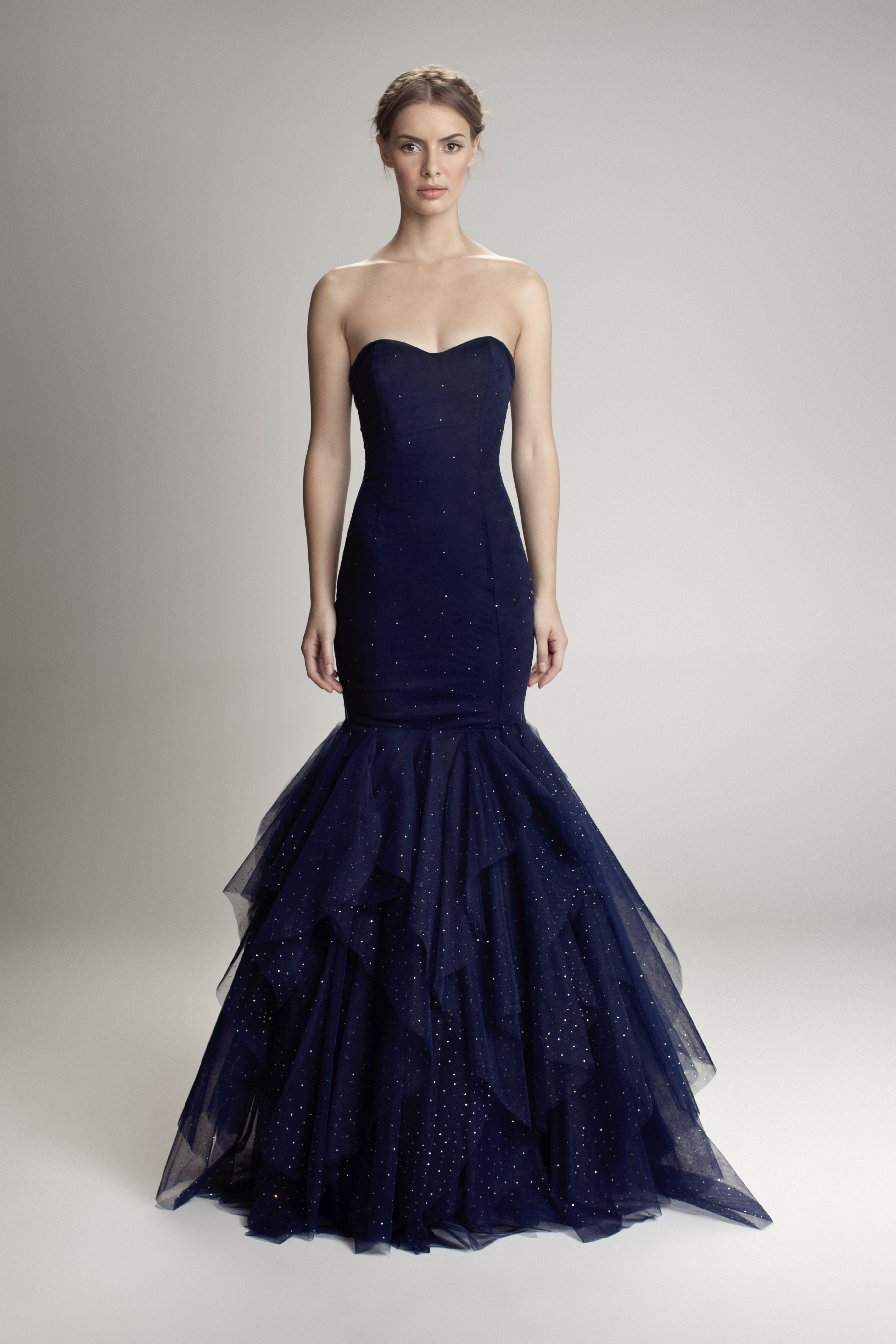Midnight blue crystallized dress fashion in pinterest