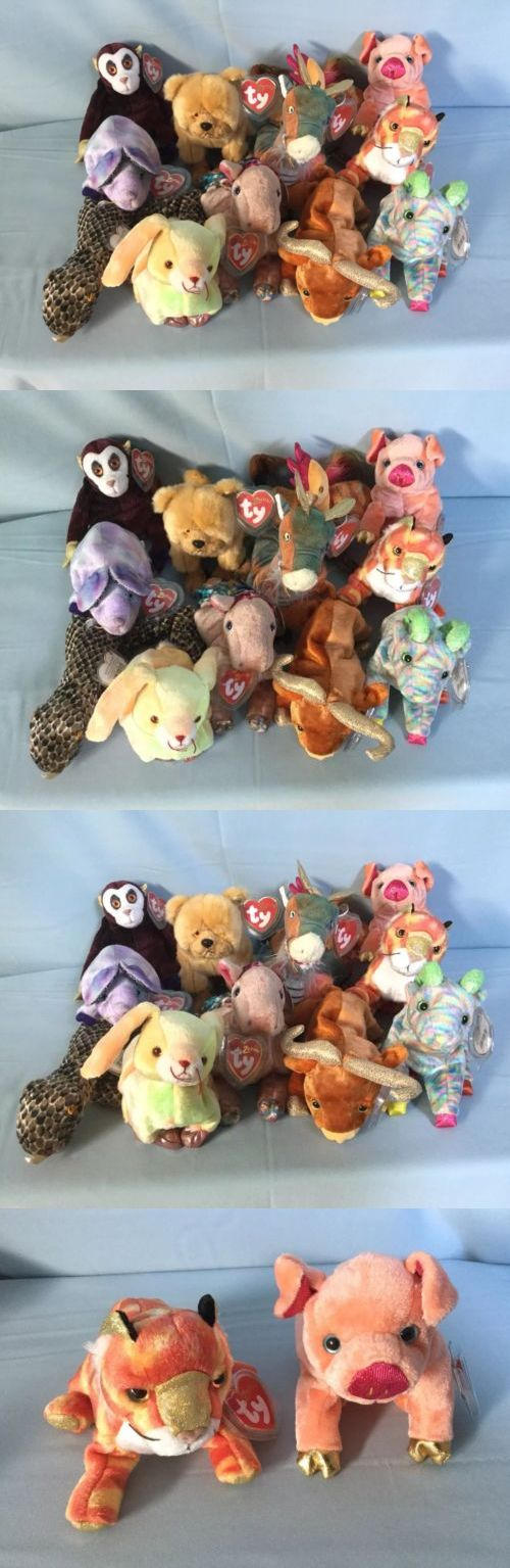 e6030824f69 Retired 440  Ty Zodiac Beanie Babies 12 Complete Set With Tags And Tag  Protectors -  BUY IT NOW ONLY   11.99 on  eBay  retired  zodiac  beanie   babies ...