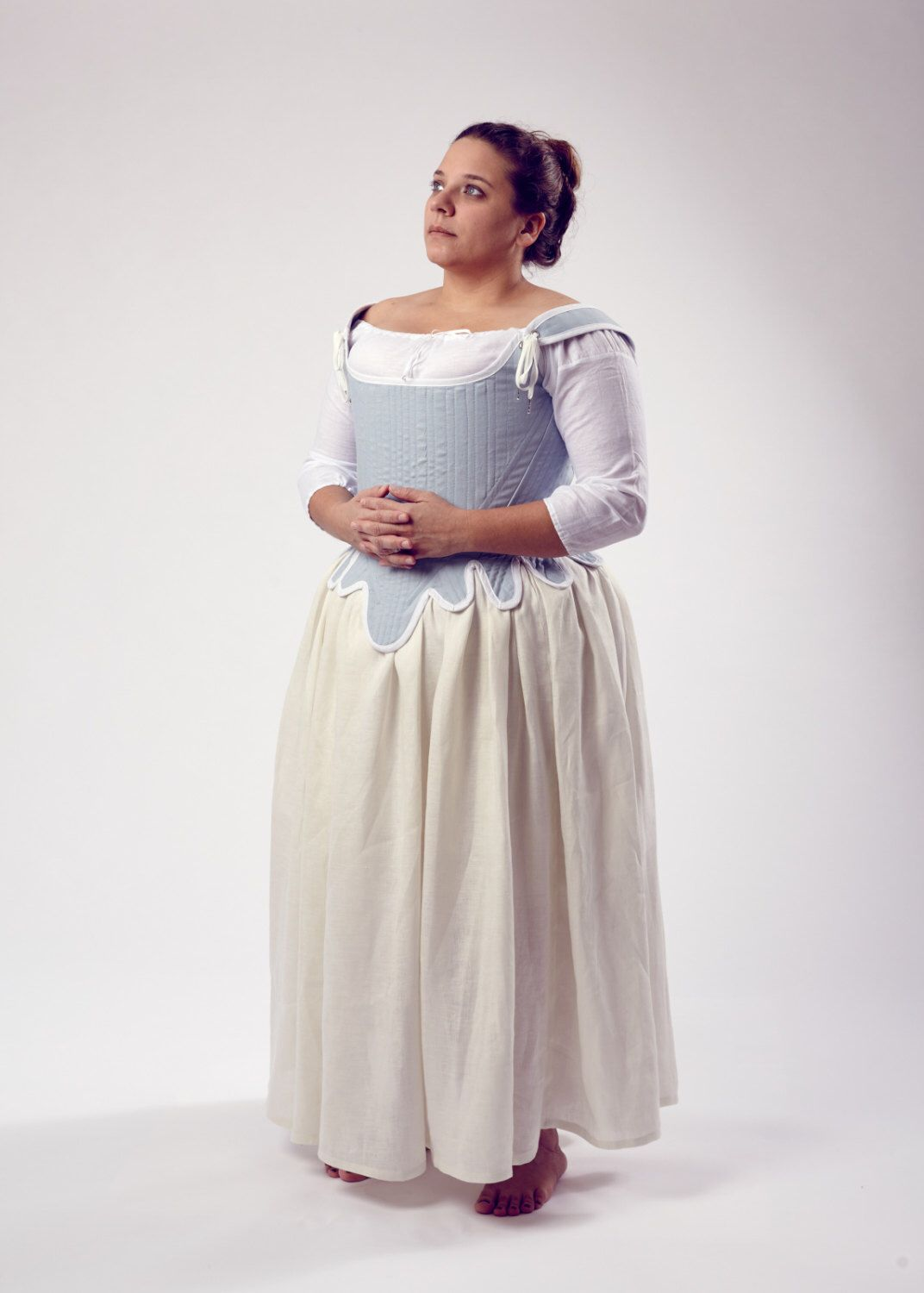 Custom Order Colonial 1770s Diderot Corset Upon Request by historicaldesigns on Etsy https://www.etsy.com/listing/176432369/custom-order-colonial-1770s-diderot