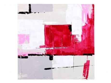 Tableau RED ART - 60 x 60 cm - peinture à l'huile 30 ...