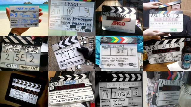 The film slate, best way to fill it out completely