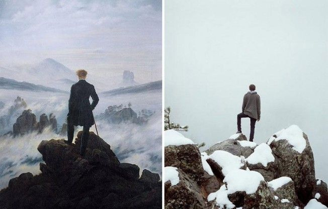 """Wanderer above the Sea of Fog"" de Caspar David Friedrich, por Spencer Harding"