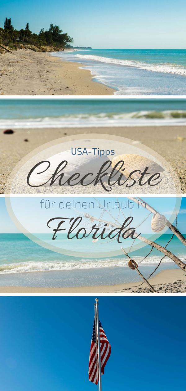 Checkliste Fur Deine Florida Reise Usa Tipps Usa Reise Usa Reise Tipps Urlaub Florida