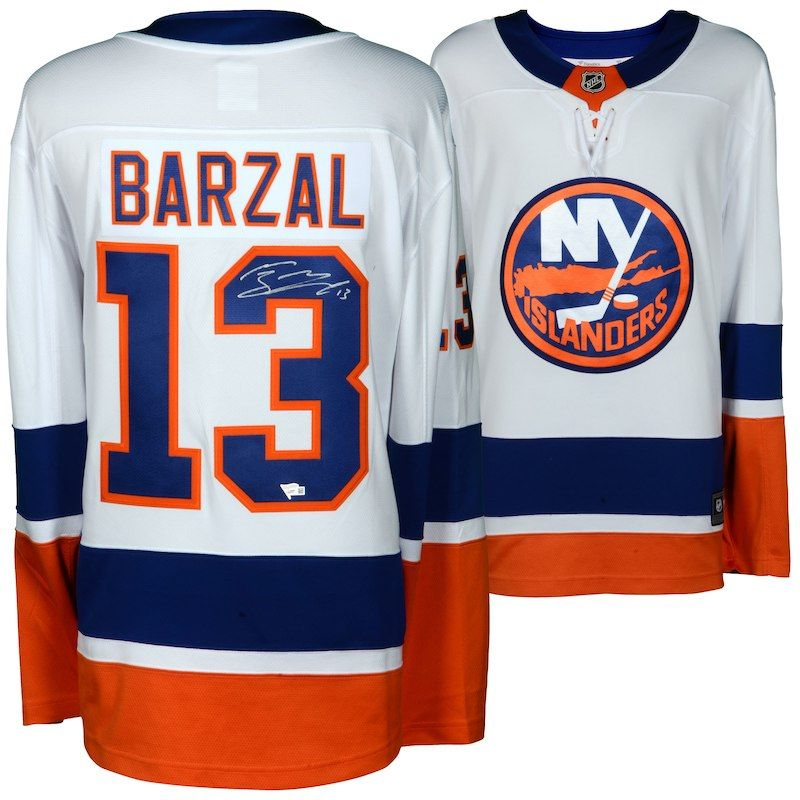 save off d98ac 06d2c Mathew Barzal New York Islanders Fanatics Authentic ...