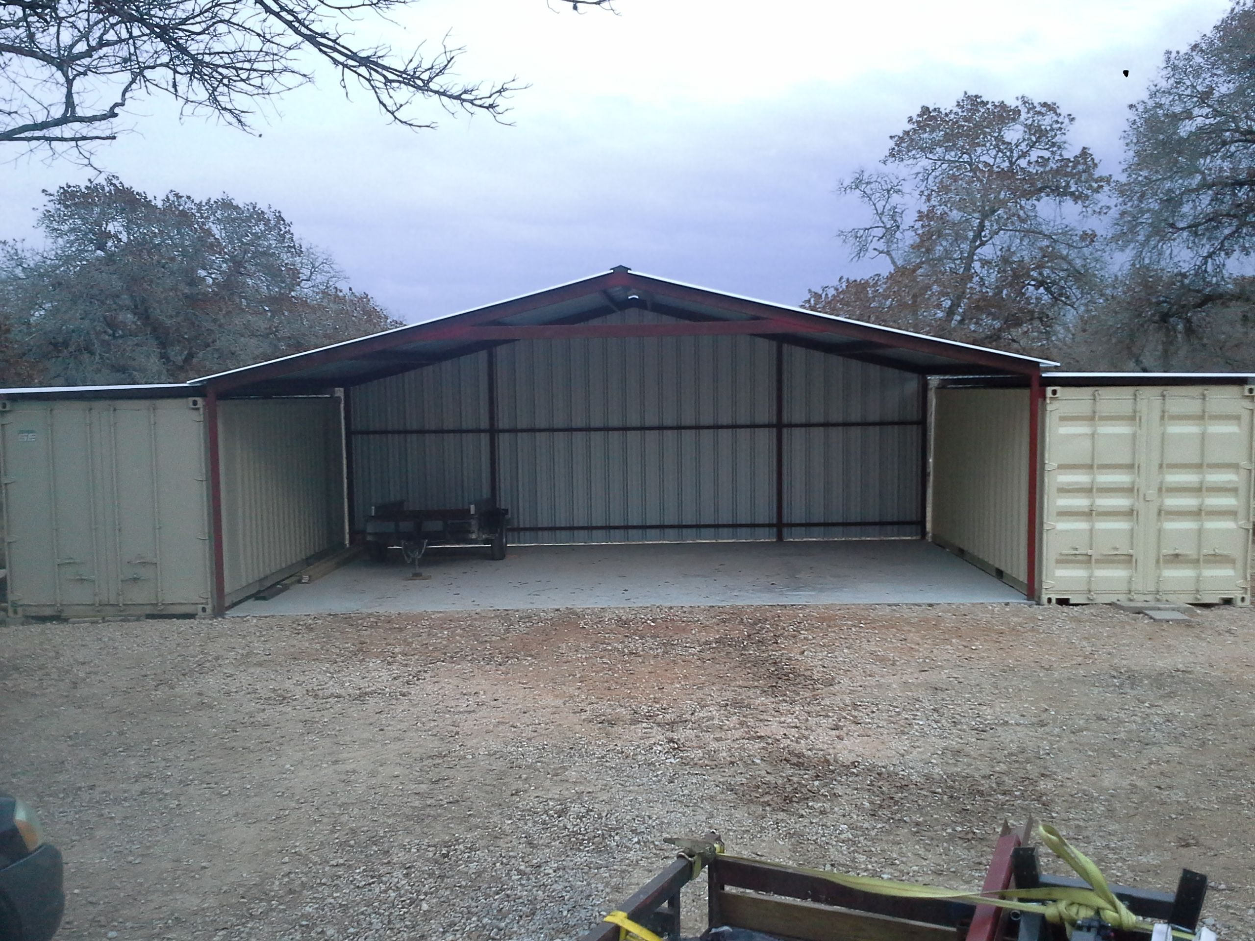 Gabled Enclosed Attachment Floresville Texas Shipping Container Sheds Container House Design