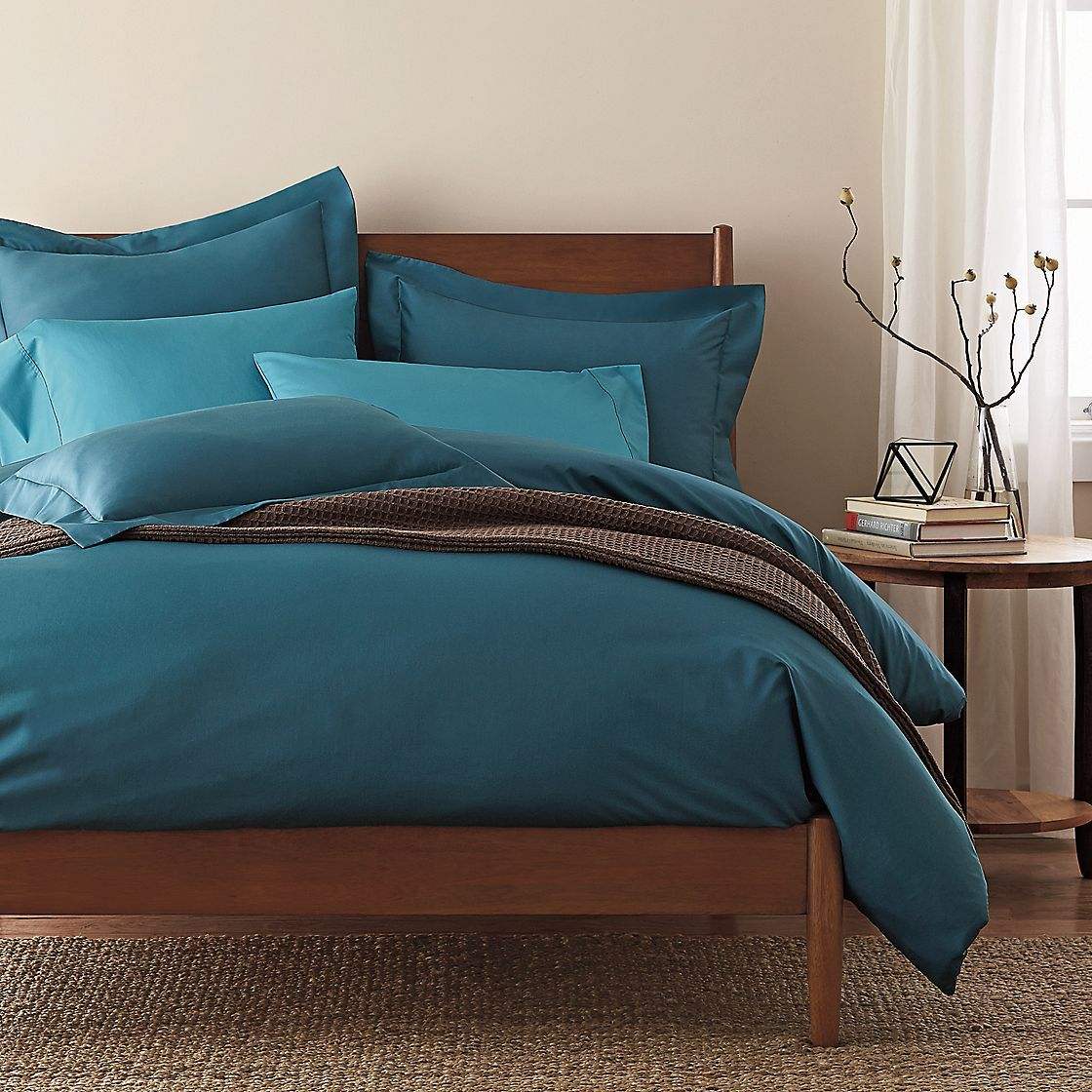 White 300-Thread Count Wrinkle-Free Sateen Duvet Cover | The Company Store - use code TSFAL1 for 15% off + free ship- exp 10/31/15