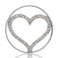 6218452486431 Buy Nikki Lissoni Silver Sparkling Heart Coin 33mm | jewelry ...