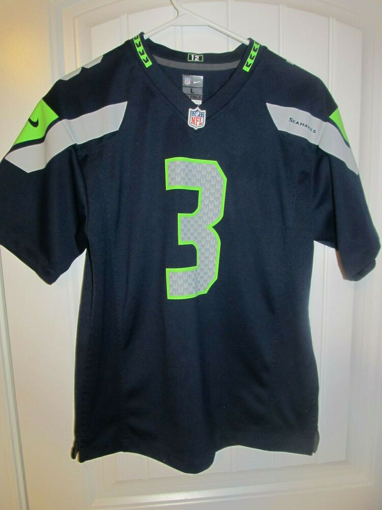 pretty nice a0f20 8e357 Russell Wilson - Seattle Seahawks Jersey - Nike Youth Large ...