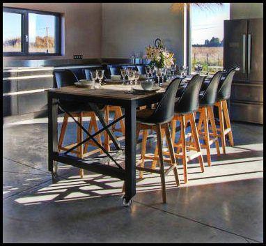 Table Haute Sur Roulettes Design