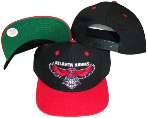 36a815b1bca Atlanta Hawks Black Red Two Tone Snapback Adjustable Plastic Snap Back Hat    Cap by adidas.  10.99. Embroidered team graphics.