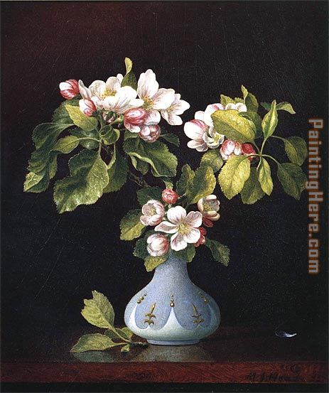 martin johnson heade paintings | ... Johnson Heade - Martin Johnson Heade Apple Blossoms in a Vase Painting